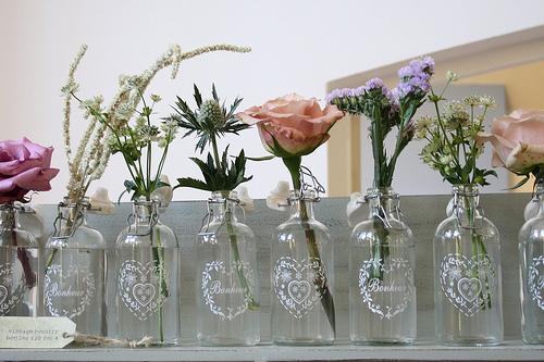 Garrafinhas decoração - Izabel Kahn