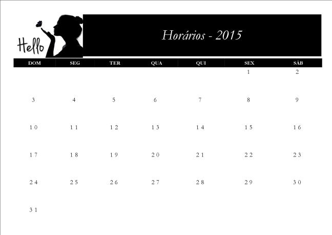 calendário hello