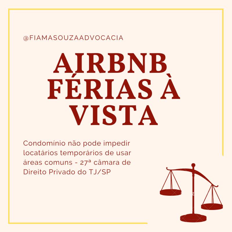 Locação por temporada –Airbnb